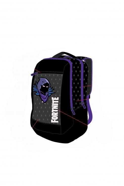 FORTNITE  - Dark Purple - Sac à Dos 31x17x42