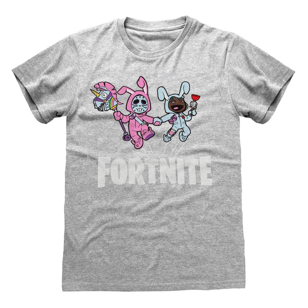 FORTNITE - T-Shirt Kids Bunny Trouble - Gris (7-8 ans)