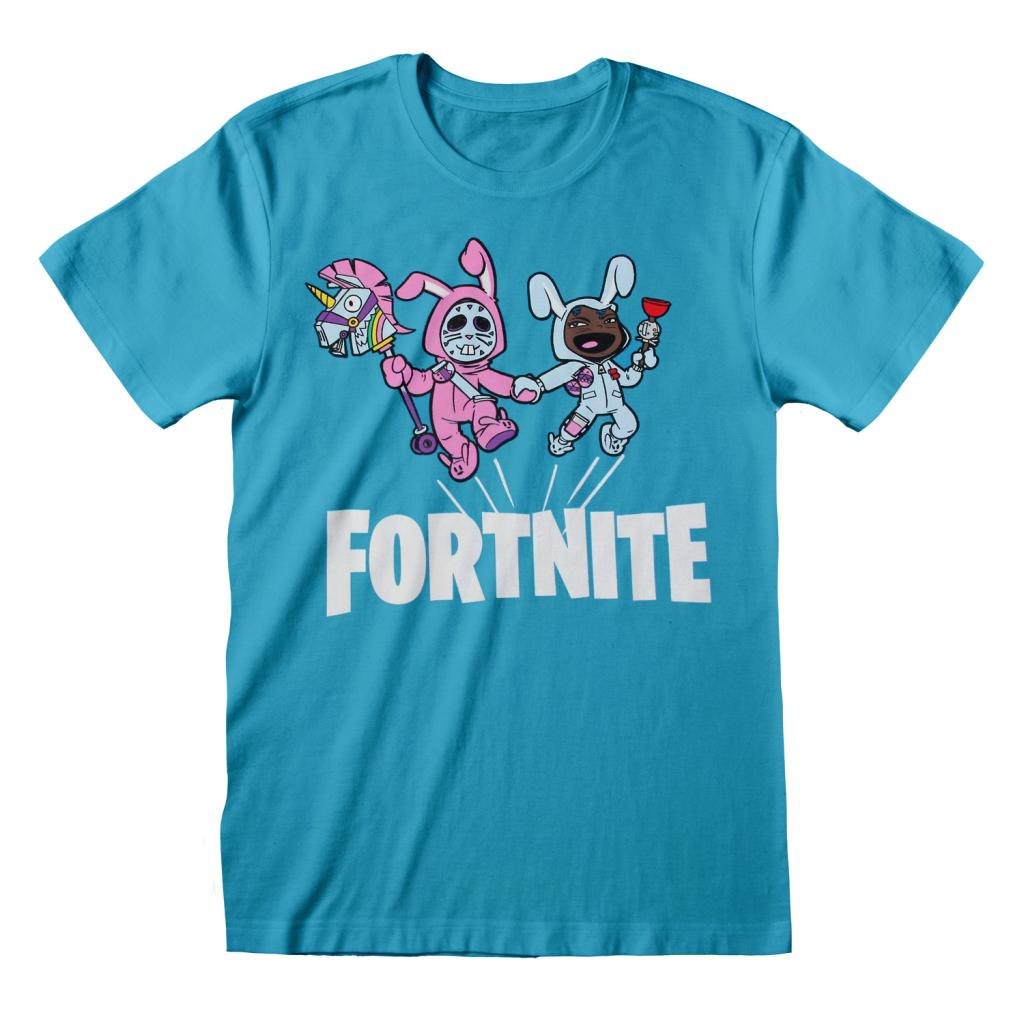 FORTNITE - T-Shirt Kids Bunny Trouble - Bleu Azure (7-8 ans)