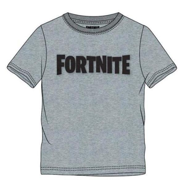 FORTNITE - T-Shirt Kids Logo Grey (10 ans)