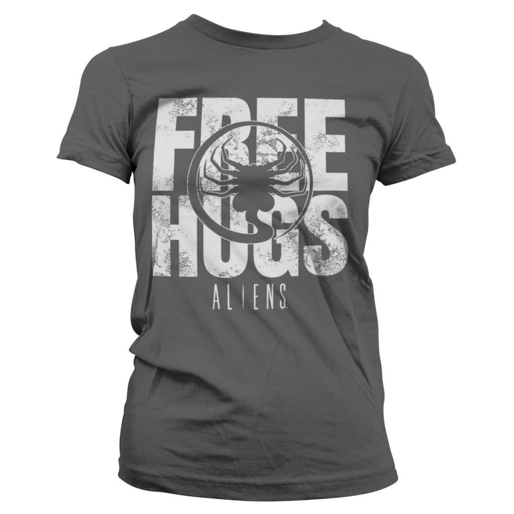 ALIENS - T-Shirt Free Hugs - GIRL Grey (S)