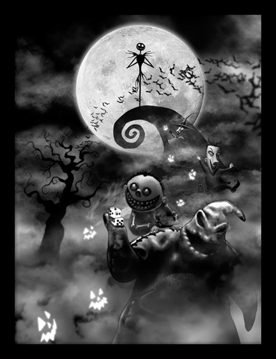 NIGHTMARE BEFORE CHRISTMAS - Collector Print HQ 32X42 - Oogie Boogie_1