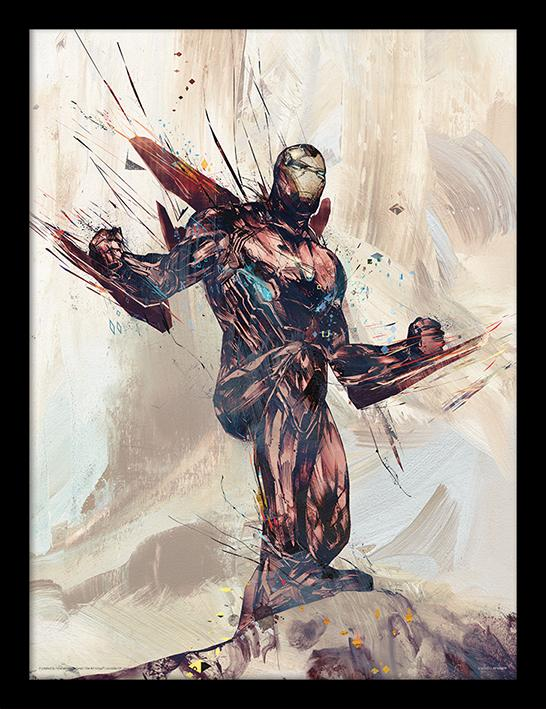 MARVEL - Framed 30X40 Print - Avengers: Infinity War - Iron Man Sketch_1