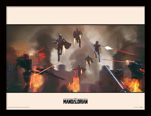 STAR WARS - The Mandalorian : Assemble - Impression encadrée 30x40cm