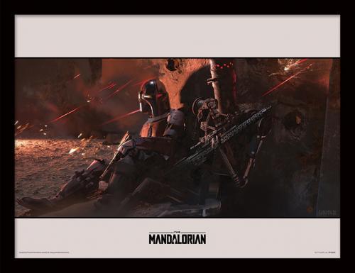 STAR WARS - The Mandalorian : Cover - Impression encadrée 30x40cm