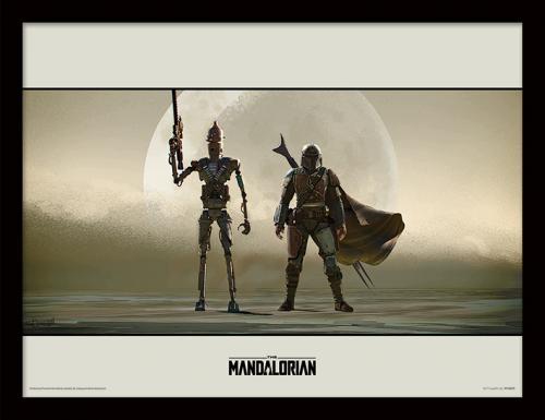 STAR WARS - The Mandalorian : Duo - Impression encadrée 30x40cm