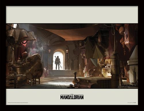 STAR WARS - The Mandalorian : Entrance - Impression encadrée 30x40cm
