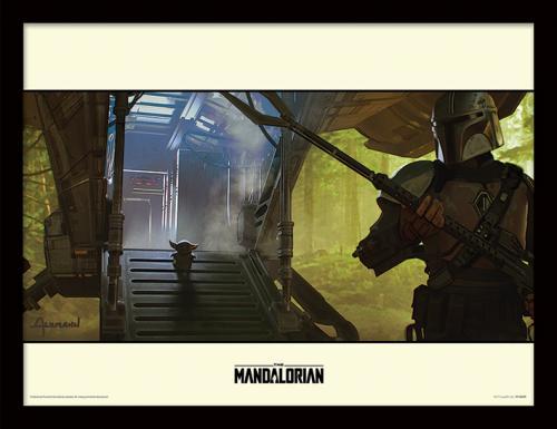 STAR WARS - The Mandalorian : Explore - Impression encadrée 30x40cm