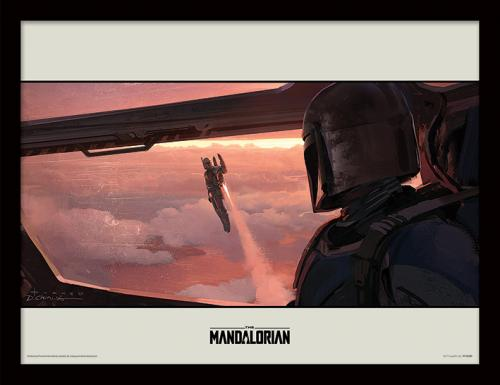 STAR WARS - The Mandalorian : Fly - Impression encadrée 30x40cm