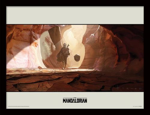 STAR WARS - The Mandalorian : Journey - Impression encadrée 30x40cm