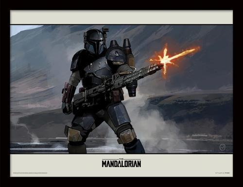 STAR WARS - The Mandalorian : Shoot - Impression encadrée 30x40cm