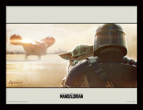 STAR WARS - The Mandalorian : Shoulder - Impression encadrée 30x40cm