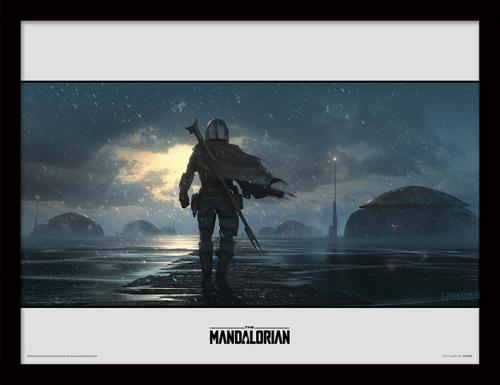 STAR WARS - The Mandalorian : Storm - Impression encadrée 30x40cm