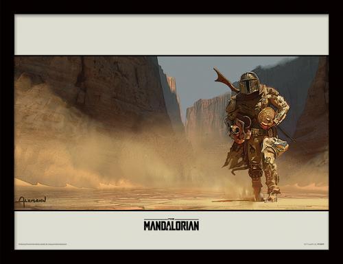 STAR WARS - The Mandalorian : Walk - Impression encadrée 30x40cm