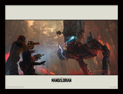 STAR WARS - The Mandalorian : Walker - Impression encadrée 30x40cm