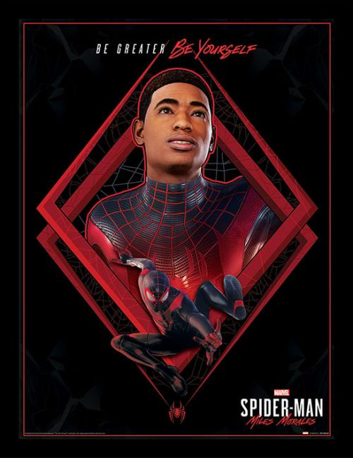 SPIDER-MAN MILES MORALES - Be Greater - Impression encadrée 30x40cm