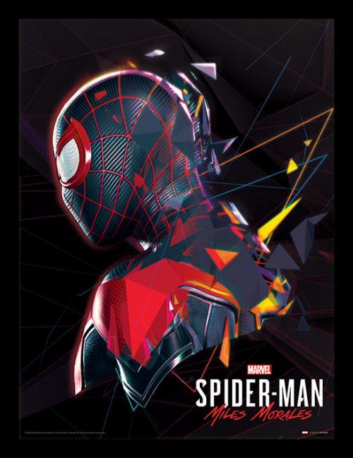 SPIDER-MAN MILES MORALES - Impression encadrée 30x40cm