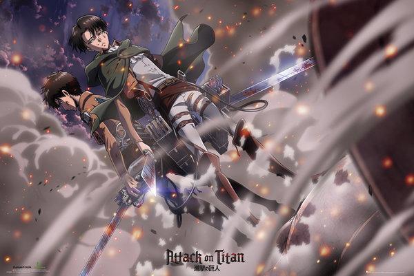 ATTACK ON TITAN - Poster 61X91 - Battle
