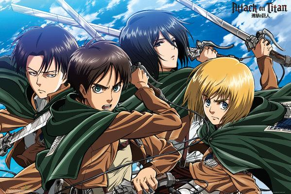 ATTACK ON TITAN - Poster 61X91 - Four Swords