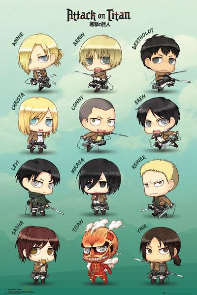 ATTACK ON TITAN - Poster 61X91 - Chibi Characters