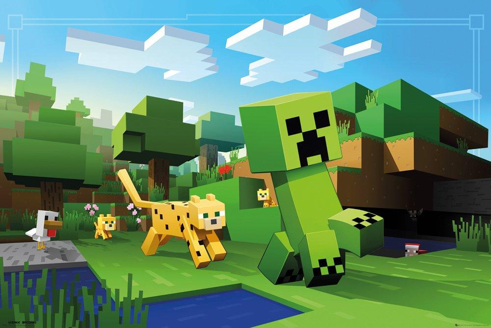MINECRAFT- Poster 61X91 - Ocelot Chase