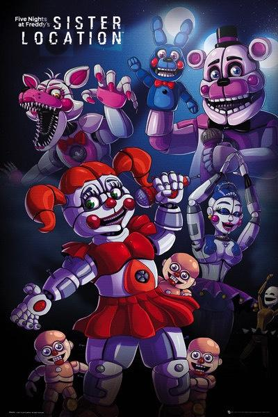 FIVE NIGHTS AT FREDDY'S - Poster 61X91 - Sister Location Group