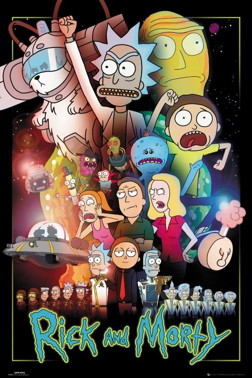RICK & MORTY - Wars - Poster '61x91.5cm'