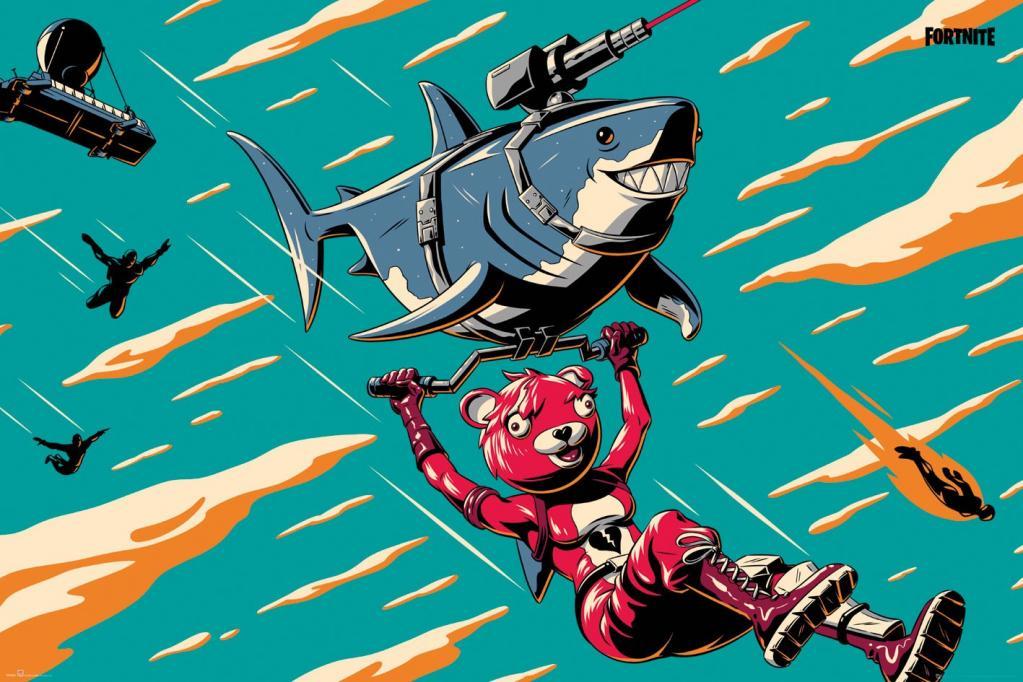 FORTNITE - Poster 61X91 - Laser Shark_1