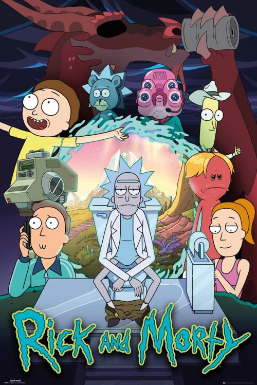 RICK & MORTY - Season 4 - Poster '61x91.5cm'