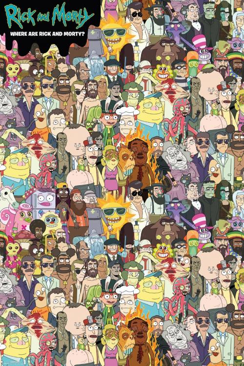 RICK & MORTY - Where's Rick - Poster '61x91.5cm'