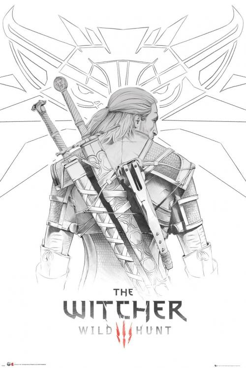 THE WITCHER - Geralt Sketch - Poster '61x91.5cm'