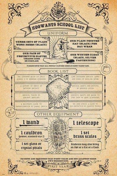 HARRY POTTER - Hogwarts List - Poster '61x91.5cm'