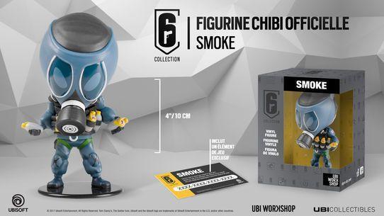 SIX COLLECTION Serie 1 - Figurine Smoke Chibi (Officiel Ubisoft)