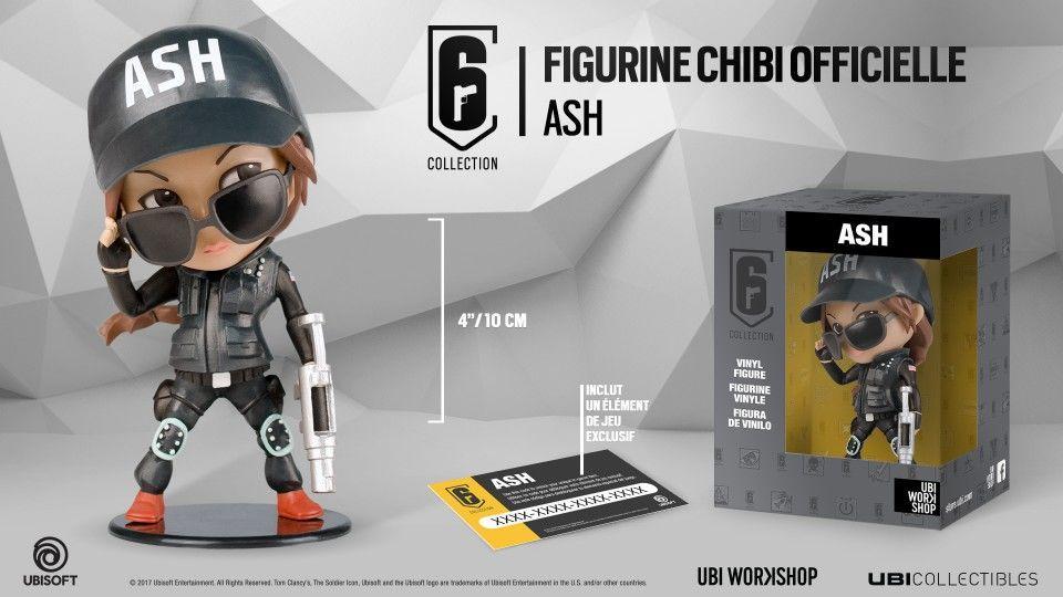 SIX COLLECTION Serie 1 - Figurine Ash Chibi (Officiel Ubisoft)