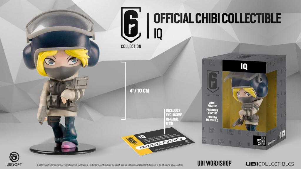 SIX COLLECTION Serie 1 - Figurine IQ Chibi (Officiel Ubisoft)