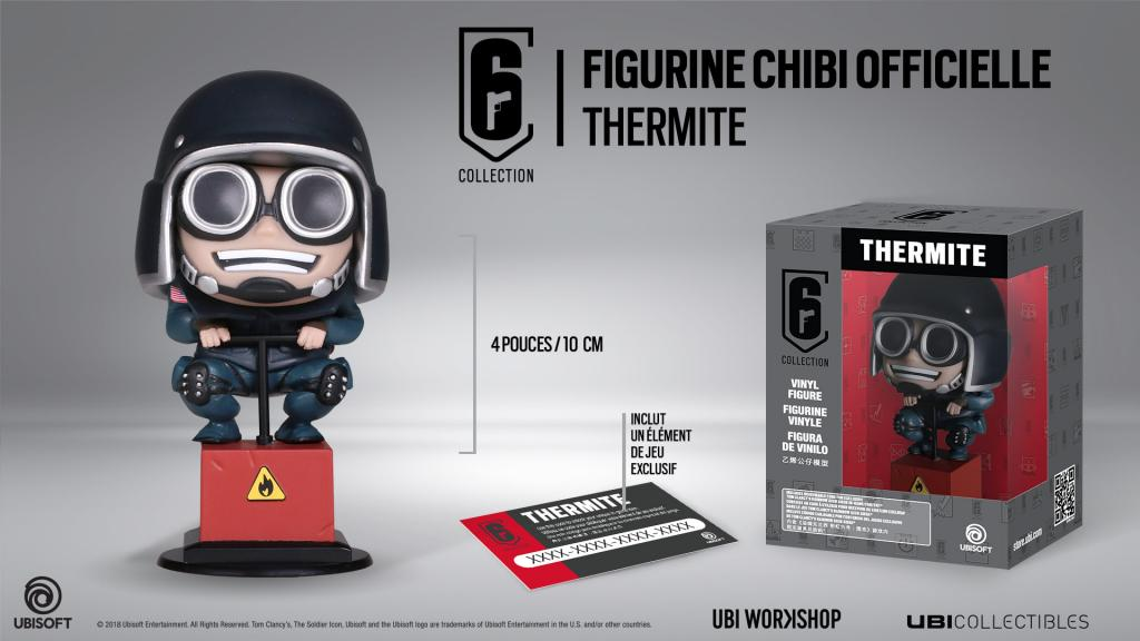 SIX COLLECTION Serie 2 - Figurine Thermite Chibi (Officiel Ubisoft)