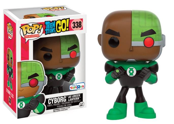 TEEN TITANS GO - Bobble Head POP N° 338 - Cyborg as Green Lantern