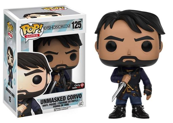 DISHONORED 2 - Bobble Head POP N° 125 - Unmasked Corvo