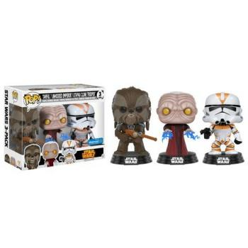 STAR WARS - Bobble Head POP 3-Pack - Tarfful/Emperor/Trooper  NYCC17