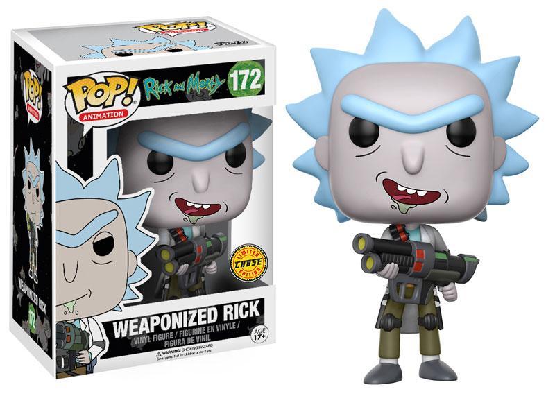 RICK & MORTY - Bobble Head POP N° 172 - Weaponized Rick CHASE EDIT