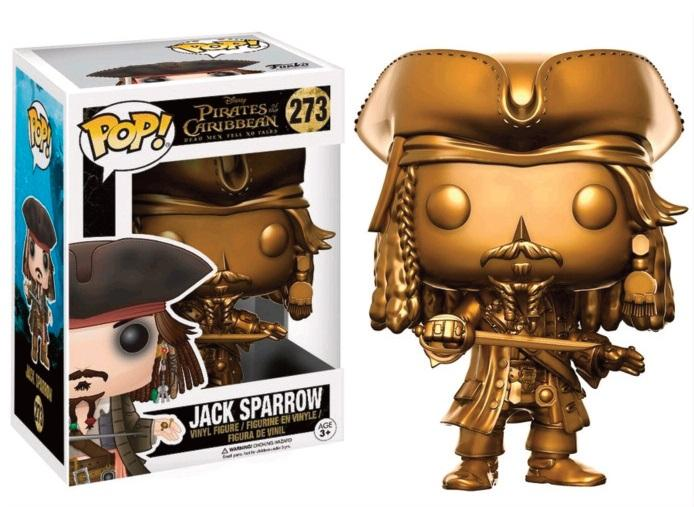 PIRATES OF THE CARIBBEAN - Bobble Head POP N° 273 - Jack Sparrow GOLD