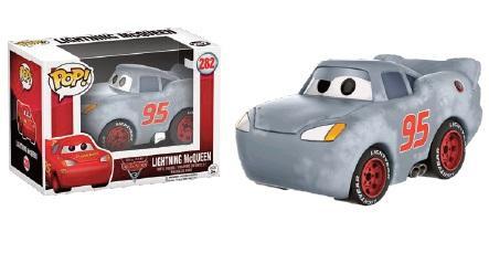 DISNEY - Bobble Head POP N° 282 - Cars 3 - McQueen Grey Primed LTD