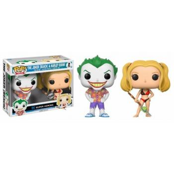 DC COMICS - Bobble Head POP - Beach Joker & Harley Quinn  2-Pack