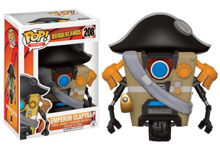 BORDERLANDS - Bobble Head POP N° 208 - Emperor Claptrap