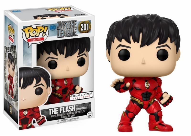 JUSTICE LEAGUE - Bobble Head POP N° 201 - Unmasked Flash LIMITED