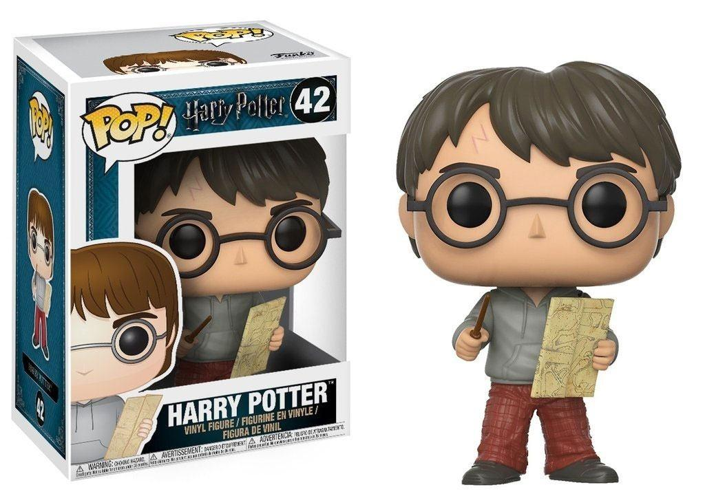HARRY POTTER - Bobble Head POP N° 42 - Harry with Marauders Map_1