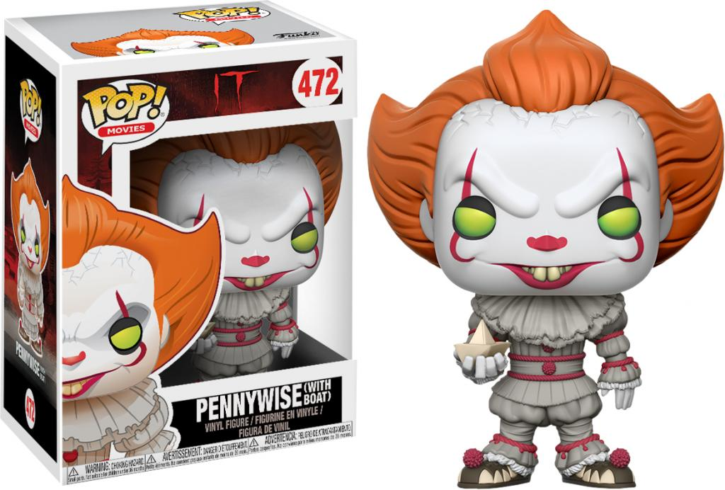 HORROR - Bobble Head POP N° 472 - IT - Pennywise with Boat