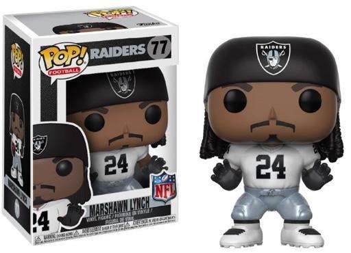 NFL - Bobble Head POP N° 77 - Raiders - Marshawn Lynch