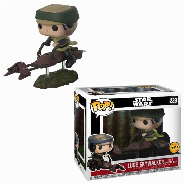 STAR WARS - Bobble Head POP N° 229 - Luke Skywalker With Bike CHASE