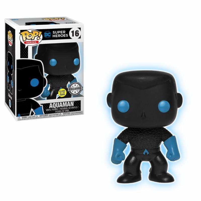 JUSTICE LEAGUE - Bobble Head POP N° 016 - Aquaman Silhouette GITD LT